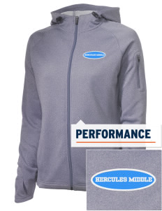 Hercules MiddleHigh School Titans Embroidered Women's Tech Fleece Full-Zip Hooded Jacket
