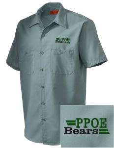 Pikes Peak School of Expeditionary Learn Bears Embroidered Men's Cornerstone Industrial Short Sleeve Work Shirt