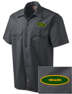 Pikes Peak School of Expeditionary Learn Bears Embroidered Dickies Men's Short-Sleeve Workshirt