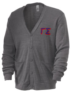 Gamma Sigma Men's 5.6 oz Triblend Cardigan
