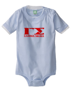Gamma Sigma Baby One-Piece with Shoulder Snaps