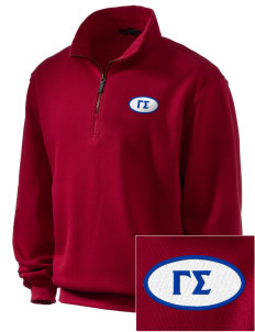 Gamma Sigma Embroidered Men's 1/4-Zip Sweatshirt