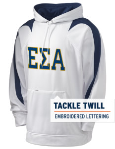 Epsilon Sigma Alpha Holloway Men's Sports Fleece Hooded Sweatshirt with Tackle Twill