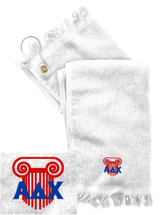 Alpha Delta Chi  Embroidered Grommeted Finger Tip Towel