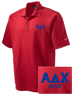 Alpha Delta Chi Embroidered Nike Men's Dri-FIT Pique II Golf Polo