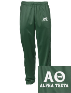 Alpha Theta Embroidered Men's Tricot Track Pants