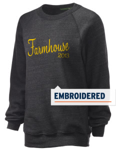 FarmHouse Embroidered Unisex Alternative Eco-Fleece Raglan Sweatshirt