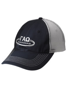 Gamma Alpha Omega Embroidered Mesh Back Cap
