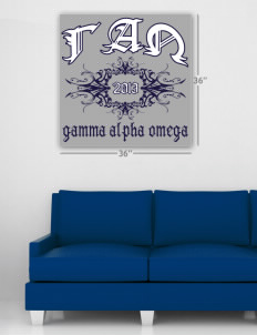"Gamma Alpha Omega Wall Poster Decal 36"" x 36"""