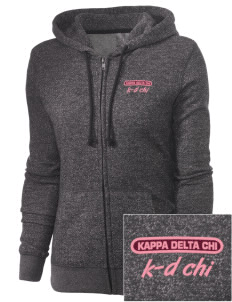 Kappa Delta Chi Embroidered Women's Marled Full-Zip Hooded Sweatshirt