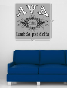 "Lambda Psi Delta Wall Poster Decal 36"" x 36"""