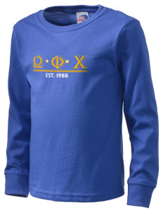 Omega Phi Chi  Kid's Long Sleeve T-Shirt