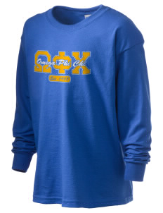 Omega Phi Chi Kid's 6.1 oz Long Sleeve Ultra Cotton T-Shirt