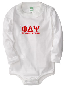 Phi Delta Psi  Baby Long Sleeve 1-Piece with Shoulder Snaps