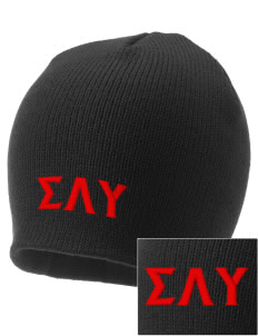 Sigma Lambda Upsilon Embroidered Knit Cap