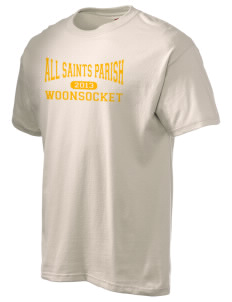 All Saints Parish Woonsocket Hanes Men's 6 oz Tagless T-shirt