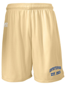 "Assumption of The BVM Parish Spokane  Russell Men's Mesh Shorts, 7"" Inseam"