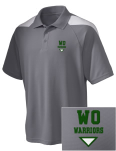 Western Oaks Elementary School Warriors Embroidered Holloway Men's Frequency Performance Pique Polo