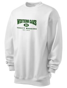 Western Oaks Elementary School Warriors Men's 7.8 oz Lightweight Crewneck Sweatshirt