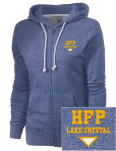 Holy Family Parish Lake Crystal Embroidered Women's Marled Full-Zip Hooded Sweatshirt