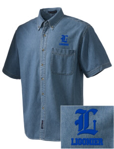 Holy Trinity Parish Ligonier  Embroidered Men's Denim Short Sleeve