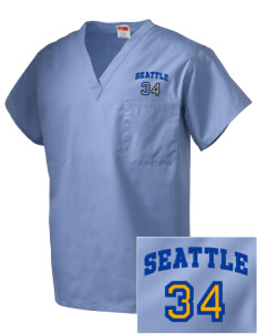 Our Lady of Fatima Parish Seattle Embroidered V-Neck Scrub Top