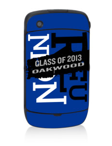 Oakwood Elementary School Eagles Black Berry 8530 Curve Skin