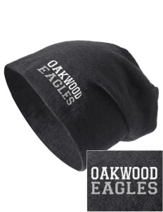 Oakwood Elementary School Eagles Embroidered Slouch Beanie