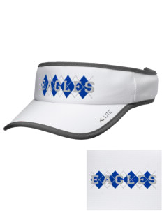 Oakwood Elementary School Eagles Embroidered Lite Series Active Visor