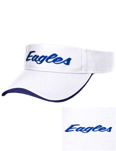 Oakwood Elementary School Eagles Embroidered Binding Visor