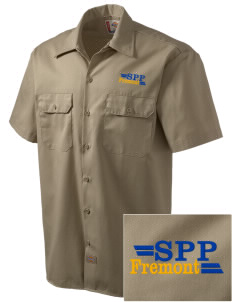 Santa Paula Parish Fremont Embroidered Dickies Men's Short-Sleeve Workshirt