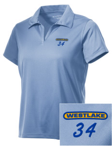 St Bernadette Church Westlake Embroidered Women's Double Mesh Polo