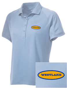 St Bernadette Church Westlake Embroidered Women's Polytech Mesh Insert Polo