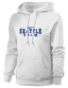 St Catherine Parish Seattle Russell Women's Pro Cotton Fleece Hooded Sweatshirt