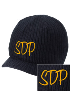 St Dominic Parish Orland Embroidered Knit Beanie with Visor
