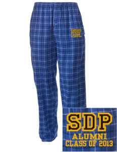 St Dominic Parish Orland Embroidered Men's Button-Fly Collegiate Flannel Pant
