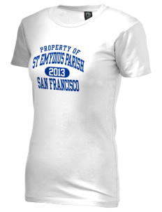 St Emydius Parish San Francisco Alternative Women's Basic Crew T-Shirt