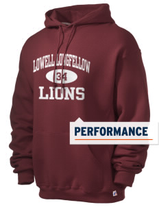 Lowell Longfellow Elementary School Lions Russell Men's Dri-Power Hooded Sweatshirt