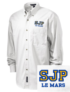 St Joseph Parish Le Mars Embroidered Tall Men's Twill Shirt