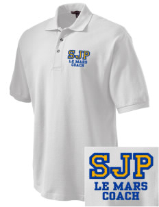 St Joseph Parish Le Mars Embroidered Tall Men's Pique Polo