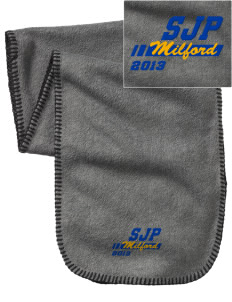 St Joseph Parish Milford Embroidered Fleece Scarf