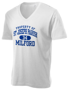 St Joseph Parish Milford Alternative Men's 3.7 oz Basic V-Neck T-Shirt