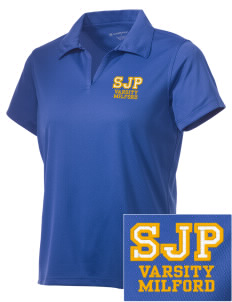 St Joseph Parish Milford Embroidered Women's Double Mesh Polo