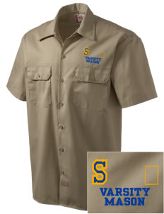 St Joseph Parish (Hispanic) Mason Embroidered Dickies Men's Short-Sleeve Workshirt