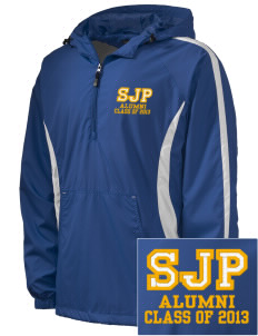 St Joseph Parish Waterloo Embroidered Men's Colorblock Raglan Anorak