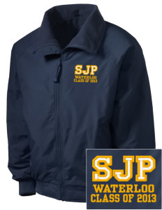 St Joseph Parish Waterloo Embroidered Men's Fleece-Lined Jacket