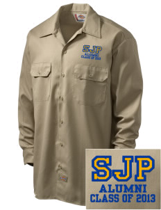 St Joseph Parish Waterville Embroidered Dickies Men's Long-Sleeve Workshirt