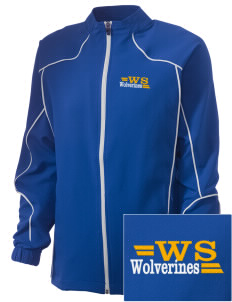 Willow Springs Elementary School Wolverines Embroidered Russell Women's Full Zip Jacket