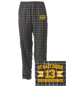 St Mary Parish Duquesne Embroidered Men's Button-Fly Collegiate Flannel Pant