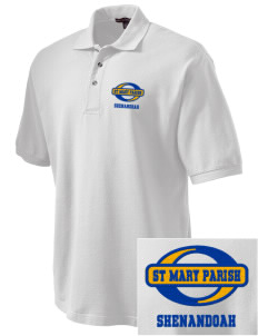 St Mary Parish Shenandoah Embroidered Tall Men's Pique Polo